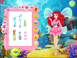 Ariel se Veste de Fada Winx - screenshot 2