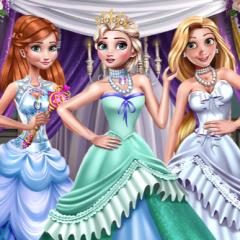Jogo Baile de Gala de Inverno com Três Princesas