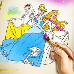 Jogo Colorir as Princesas Disney