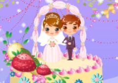 Decorando o Bolo de Casamento