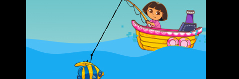 Dora Está Pescando