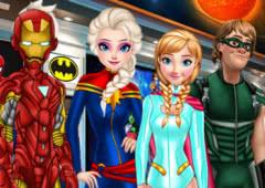 Elsa e Anna: Marvel contra DC