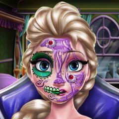 Jogo Elsa: Maquiagem Assustadora de Halloween