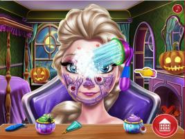Elsa: Maquiagem Assustadora de Halloween - screenshot 1