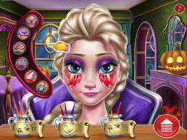 Elsa: Maquiagem Assustadora de Halloween - screenshot 3