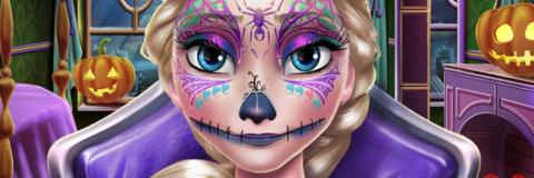 Elsa: Maquiagem Assustadora de Halloween