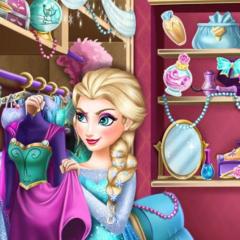 Jogo Guarda Roupa da Elsa