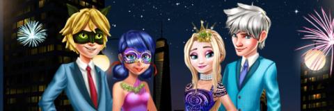 Ladybug e Elsa Celebram o Ano Novo