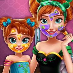 Jogo Mude o Visual de Anna e Sua Filha
