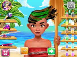 Salão de Cabeleireiro de Moana - screenshot 1