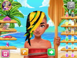Salão de Cabeleireiro de Moana - screenshot 2