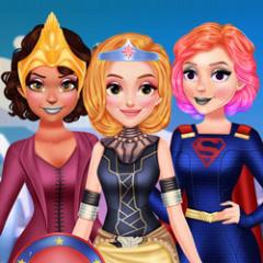 Jogo Vista 4 Princesas Estilo Super-Heróis