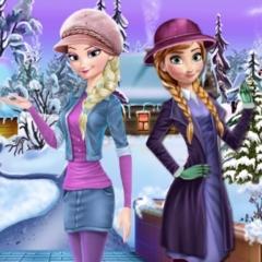 Jogo Vista Anna e Elsa no Inverno