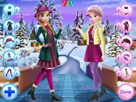 Vista Anna e Elsa no Inverno - screenshot 1