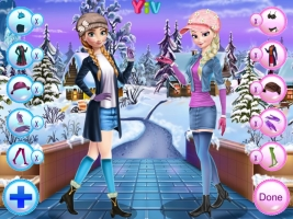 Vista Anna e Elsa no Inverno - screenshot 3
