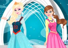 Vista Anna e Elsa Para o Baile