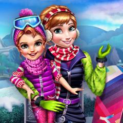 Jogo Vista Anna e Filha Para a Neve