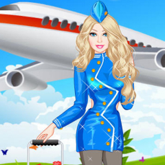 Jogo Vista Barbie Aeromoça