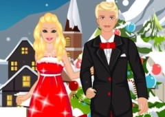 Vista Barbie e Ken no Natal