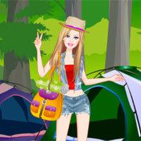 Jogo Vista Barbie no Campismo