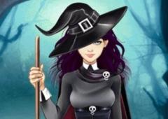 Vista Lily no Dia das Bruxas
