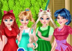 Vista As Princesas No Estilo Sailor Moon